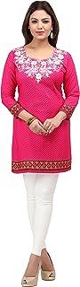 Indian Tunic Top Womens Kurti Printed Blouse India Clothing