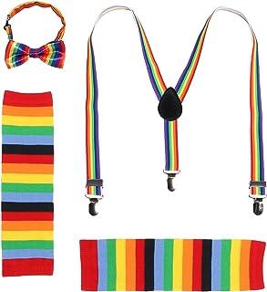 JustinCostume Kids Boys Bow Tie and Suspenders Set