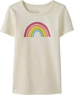 Moon and Back by Hanna Andersson Girls' Little Short Sleeve Graphic Tee