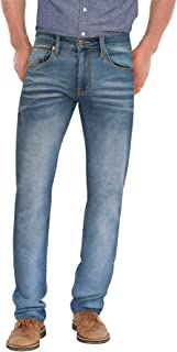 Ethanol Mens Super Comfy Straight Stretch Knit Jersey Denim Five Pocket Jean