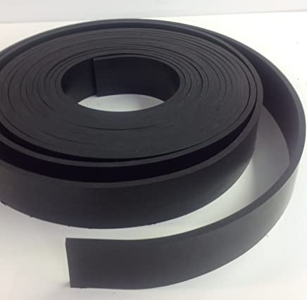 """Rubber Sheet Warehouse .125"""" (1/8"""") Thick x 3"""" Wide x 10' Feet -Neoprene Rubber Strip Commercial Grade 65A, Smooth Finish, Solid Rubber, Perfect for Weather Stripping, Gasket, Costume & DIY Projects"""