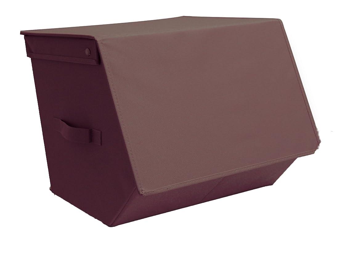 非互換委任する調整たためる かさねる ストレージ アペンド収納BOX ブラウン