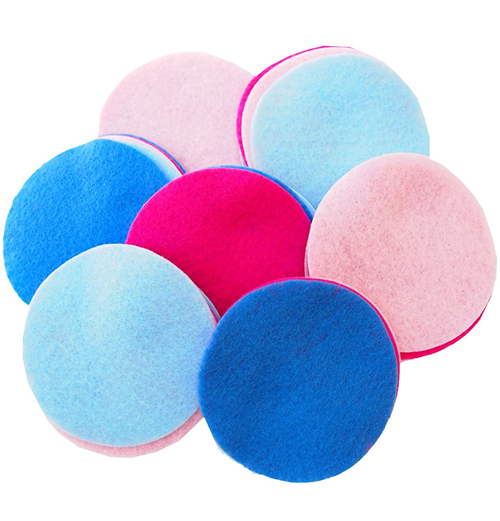 Playfully Ever After 4 Inch 16pc Felt Circles Color Combo Pack with Pink, Light Pink, Light Blue, Militia Blue