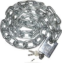 WXYZ Keyed Padlocks Vetgedrukte en verlengde kettingslot, stalen veiligheid Anti-diefstal slot voor fietsmagazijn, ketting...