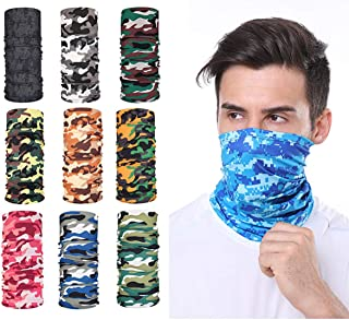 YAO STARS 9pcs Magic Scarf Outdoor Headwear Bandana Sports Tube UV Face Mask for Workout Yoga Running Hiking Riding