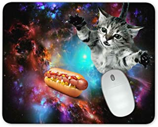 Small Sofa Cat in The Starry Sky Mouse Pad Office Mouse Pad Gaming Mouse Pad Mat Mouse Pad