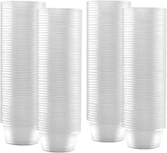 200-Pack of 2 Ounce Clear Plastic Jello Shot Cup Containers (NO LIDS)–Jello Shooter Shot Cups -FDA-Approved -Compact Food Storage for Portion Control, 2 oz,Sauces, Liquid, Dips