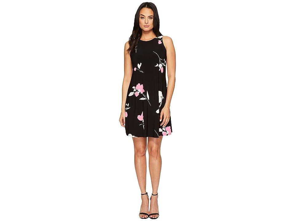 LAUREN Ralph Lauren Suzan Brunette Park Floral Dress (Black/Colonial Cream/Pink) Women