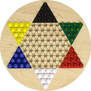Printed Maple Chinese Checkers - Made in USA