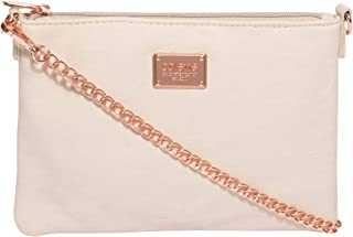 Ivory Plain Peta Chain Crossbody Bag