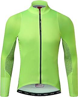 Santic メンズ サイクルジャージ 自由な組み合わせ 春秋用 3Dパッド 自転車ウェア 吸湿速乾 UVカット サイクルウェア