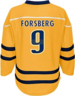Outerstuff Filip Forsberg Nashville Predators #9 Yellow Youth Home Fashion Jersey