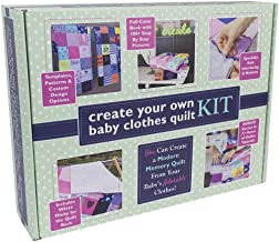 Baby Clothes Quilt Kit with Pattern, Tutorial Videos & Materials: Everything you need to sew your own DIY baby clothes quilt at home!