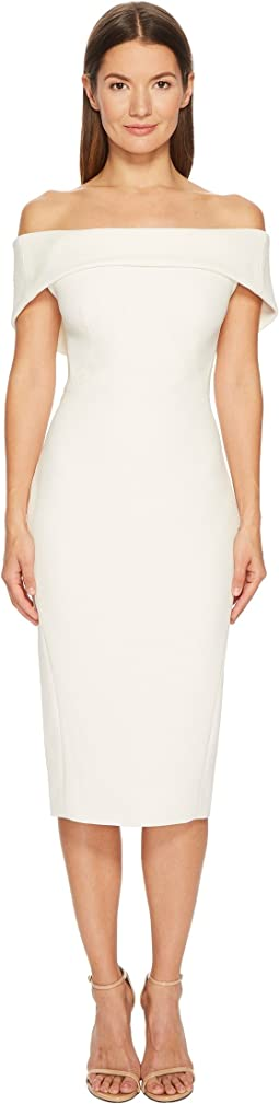 Zac Posen - Bonded Crepe Drape Neck Sleeveless Dress