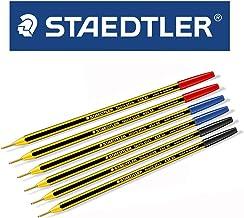 - Staedtler - Noris Stick. Set de 6 bolígrafos con punta de esfera de 1 mm. Colores: azul, rojo y negro