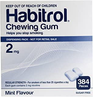 Habitrol Nicotine Gum 2mg Mint BULK 384 pieces