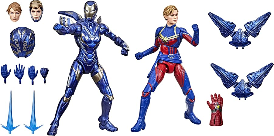 Marvel Hasbro Legends Series 6-inch Scale Action Figure Toy Captain and Rescue Armor 2-Pack, Infinity Saga Character, Premium Design, 2 Figures and 12 Accessories (Amazon Exclusive)
