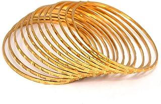 مجموعة Queen' الهندي الزفاف بوليوود سوار عرقي 18K مطلية بالذهب 12 قطعة أساور مجموعة مجوهرات للنساء