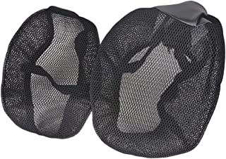 Kesoto 2 peças capa de assento de motocicleta, malha respirável, almofada de isolamento