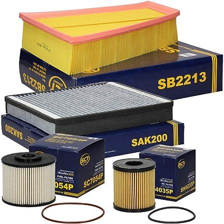 Inspektionspaket Wartungspaket Filterset 1 X Ölfilter 1 X Luftfilter 1 X Innenraumfilter 1 X Kraftstofffilter 4 X Zündkerze Auto