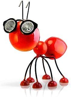 Adorno Solar para Jardin – Figura de Hormiga Roja de Metal