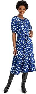ALFANI Womens Navy Printed Midi Dress US Size: XXL