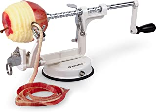 Apple Peeler and Corer by Cucina Pro – Long Lasting Chrome Cast Iron with..