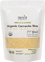Nuvia Organics USDA Certified Carnauba Wax, 100% Vegan - Great for DIY Cosmetics, Food Grade, Various Uses, 16oz