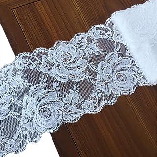 Hongma 2cm 2 Yards Dentelle Lace Noir M/étallique DIY Couture Accessoire