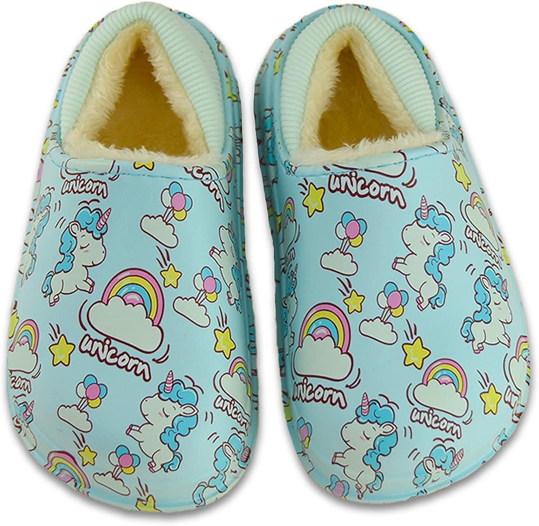 SINNO Children's Cotton Slippers Indoor Cute Cartoon Dinosaur Non-Slip Indoor Outdoor Boys and Girls Slippers
