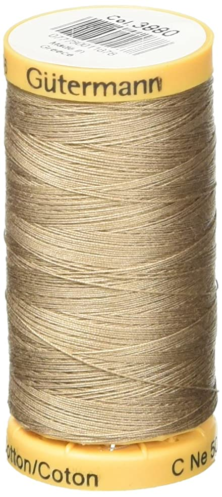 Gutermann Natural Cotton Thread 273 Yards-Khaki (24667)