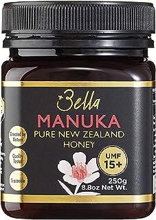 Bella New Zealand Manuka Honey Certified UMF 15+ (MGO 515+)   8.8oz   250g   Raw Super Premium 100% NZ Manuka Honey   Non-...