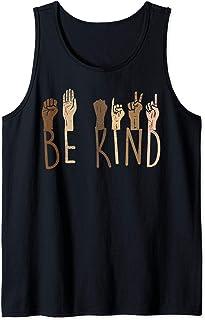 Be Kind Hands Skin Tone Melanin Black African Pride BLM Gift Tank Top