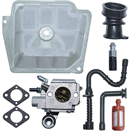 Pinhaijing C3R-S236 Carburetor Carb Gasket Kit for Stihl MS361 MS 361 Chainsaw Replace 1135 120 0601 with Air Fuel Oil Filter Line Intake Manifold