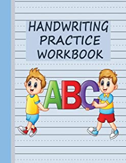 Handwriting Practice Workbook: Writing Paper & Notebook for Kids - Blue (Stationery for Script Writing)