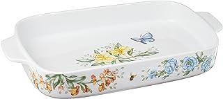 Lenox Butterfly Meadow Rectangular Baker , White -