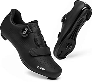 Sponsored Ad - Mens Road Bike Cycling Shoes Indoor Racing Bikes Shoes with Rotating Buckle for Men/Women Outoor Bicycle Sh...