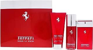 Ferrari Ferrari Man In Red By Ferrari for Men - 3 Pc Gift Set 3.3oz Edt Spray, 5oz Deodorant Spray, 6.7oz Shower Gel, 3count