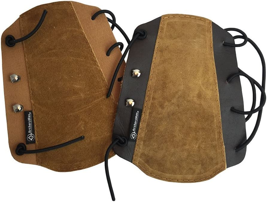 ArcheryMax Brown Non-Ventilated Guard Leather Arm Large-scale sale SEAL limited product