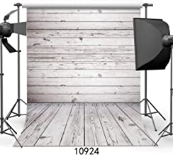 WOLADA 5x7ft Grey Wood Photo Backdrop Wooden Wall & Floor Vinyl Fabric Photography Backdrop Baby Shower Photography Backdrops Home Party Customized Studio Background Studio Props 10924