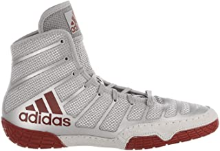 adidas Men's Adizero Varner Wrestling Shoes, Red/Silver/Red, Size 14