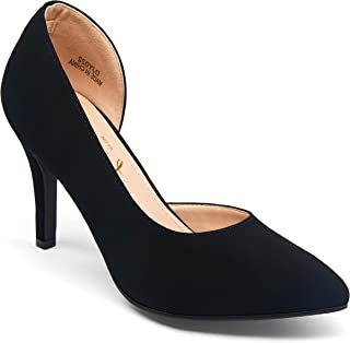 Women's D'Orsay Pumps Stiletto High Heels Sexy Semi-Empty...
