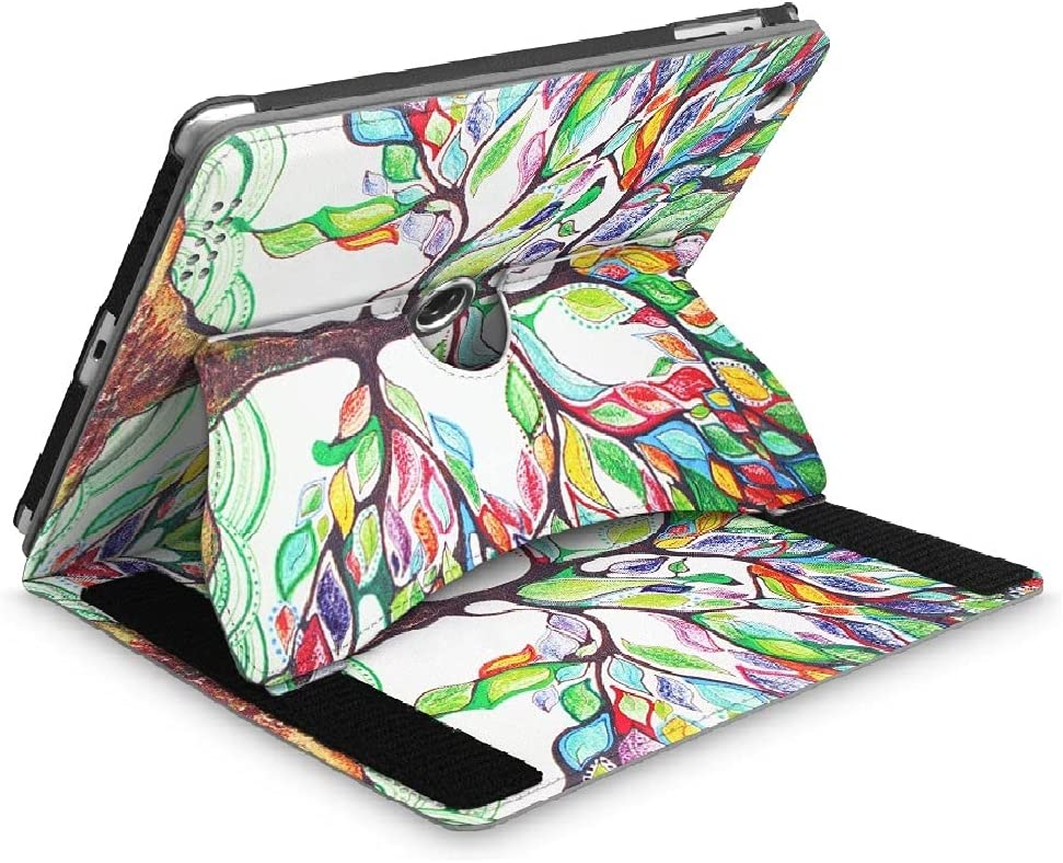 Fintie Case for iPad 2 3 4 Case (Old Model) 9.7 inch Tablet - [Multi-Angle Viewing] 360 Degree Rotating Smart Stand Cover Auto Sleep/Wake for iPad 4th Gen Retina Display/iPad 3 / iPad 2, Love Tree