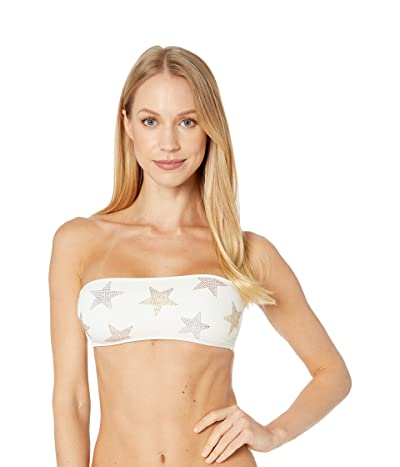 Stella McCartney Studded Stars Bandeau (Ivory) Women