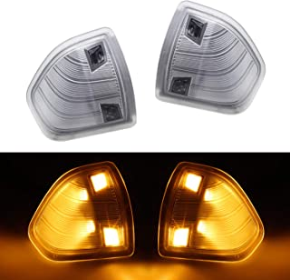 HERCOO LED Side Mirror Turn Signal Light Left and Right Lamps Clear Cover Lens for 68302828AA 68302829AA Compatible with 2010-2018 Dodge Ram 1500 2500 3500 4500 5500, Pack of 2