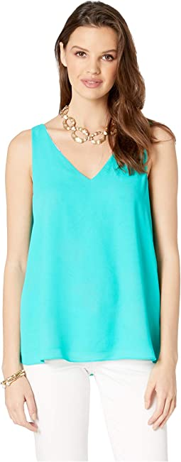 Reversible Florin Sleeveless V-Neck