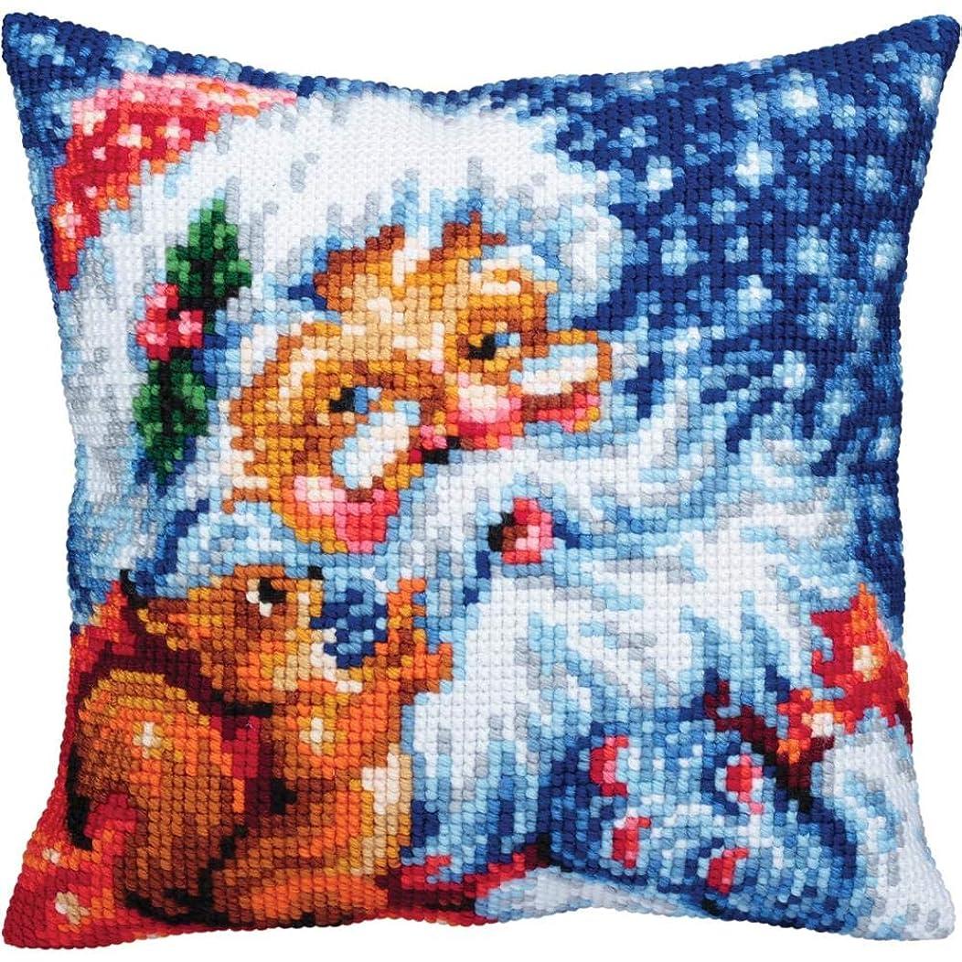 Collection D'Art Pillow Cushion Top Kit Santa 40cm x 40cm
