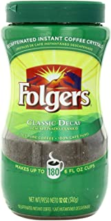 Folgers Classic Roast Instant Coffee, 12 oz (Pack of 12), Packaging May Vary