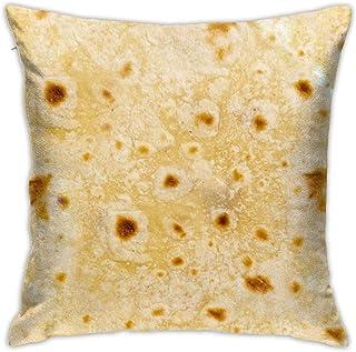 Mexico Burrito Throw Pillow Cover 18X18, Double Side Design Bolster Pillowcase, Decorative Cushion Pillow Case for Car Sofa Theme Brithday Party Bedroom Decor Kid Girls Boys