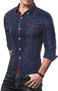 Camisa De Los Hombres De Negocios Slim Fit Hight Tamaños Cómodos Blusa Tops De Manga Larga Casual Fashion Office Camisa To...